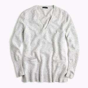 J. Crew Front Pocket Tunic Sweater Gray XS